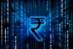Indian rupee symbol on binary digits