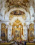 Deutschland, Bayern, Oberbayern, Ammersee, Diessen: das barocke Marienmuenster, innen, Altar | Germany, Bavaria, Upper Bavaria, Ammer Lake, Diessen: baroque Marienmuenster, inside, altar