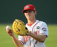 August 25, 2009: Infielder Zach Gentile (7) of the Greenville Drive, Class A affiliate of the Boston Red Sox, in a game at Fluor Field at the West End in Greenville, S.C. Photo by: Tom Priddy/Four Seam Images