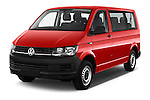 2016 Volkswagen Transporter - 5 Door Passenger Van Angular Front stock photos of front three quarter view