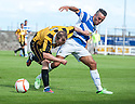 East Fife's Johnny Stewart and Morton's Dougie Imrie.