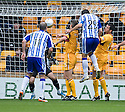 KILMARNOCK'S MANUEL PASCALI HEADS THE BALL INTO THE NET BUT HIS GOAL IS DISALLOWED BY REFEREE CRAIG THOMSON