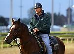 LOUISVILLE, KY -APR 25: Bill Mott, trainer of Kentucky Derby hopeful Hofburg at Churchill Downs, Louisville, Kentucky. (Photo by Mary M. Meek/Eclipse Sportswire/Getty Images)