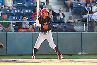 Franklin Barreto #4 of the Vancouver Canadians at bat during a game against the Everett AquaSox at Everett Memorial Stadium in Everett, Washington on July 9, 2014.  Everett defeated Vancouver 9-4.  (Ronnie Allen/Four Seam Images)