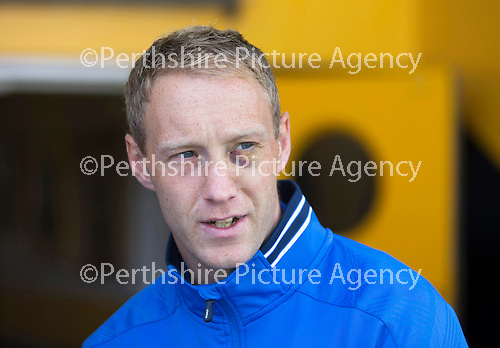St Johnstone v Real Sociadad...12.07.15  Bayview, Methil (Home of East Fife FC)<br /> Steven Anderson pictured with a black eye after the good news that his cheekbone wasn't fractured<br /> Picture by Graeme Hart.<br /> Copyright Perthshire Picture Agency<br /> Tel: 01738 623350  Mobile: 07990 594431