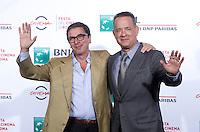 Il Direttore del Festival Antonio Monda (s) posa con l'attore statunitense Tom Hanks (d) al Festival Internazionale del Film di Roma, 13 ottobre 2016.<br /> Festival Director Antonio Monda (l) poses with U.S. actor Tom Hanks (r) during the international Rome Film Festival at Rome's Auditorium, 13 October 2016.<br /> UPDATE IMAGES PRESS/Isabella Bonotto