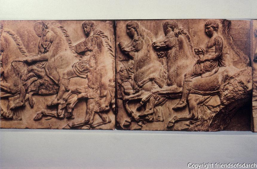 Athens: The Parthenon, Frieze. The Horsemen possibly represent Athenians who fought at Marathon.