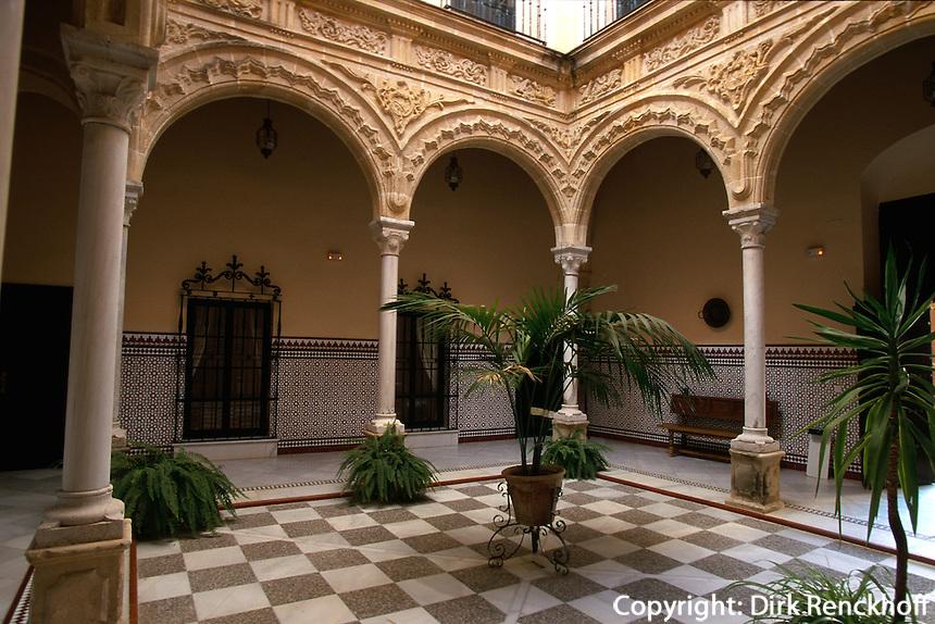 Spanien, Andalusien, Patio der Flamenco-Stiftung in Jerez de la Frontera