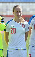 20180307 - LARNACA , CYPRUS : Czech Pavlina Nepokojova pictured during a women's soccer game between  Slovakia and the Czech Republic , on Wednesday 7 March 2018 at the GSZ Stadium in Larnaca , Cyprus . This is the final game in a decision for 9 th or 10 th place of the Cyprus Womens Cup , a prestigious women soccer tournament as a preparation on the World Cup 2019 qualification duels. PHOTO SPORTPIX.BE   DAVID CATRY