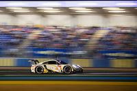 #46 Team Project 1 Porsche 911 RSR - 19 LMGTE Am, Dennis Olsen, Anders Buchardt, Robert Foley, 24 Hours of Le Mans , Free Practice 2, Circuit des 24 Heures, Le Mans, Pays da Loire, France