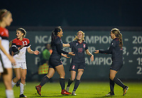 STANFORD, CA - November 9, 2018: Michelle Xiao, Beattie Goad, Jordan DiBiasi at Laird Q. Cagan Stadium. The top seeded Stanford Cardinal defeated the Seattle Redhawks 3-0 in the opening round of the NCAA tournament.