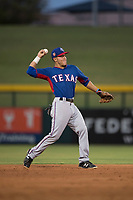 AZL Rangers infielder Frainyer Chavez (60) during an Arizona League game against the AZL Cubs 2 at Sloan Park on July 7, 2018 in Mesa, Arizona. AZL Rangers defeated AZL Cubs 2 11-2. (Zachary Lucy/Four Seam Images)