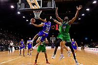 Kenneth Tuffin of the Wellington Saints shoots the ball during the NBL - Wellington Saints v Manawatu Jets at TSB Bank Arena, Wellington, New Zealand on Sunday 13 June 2021.<br /> Photo by Masanori Udagawa. <br /> www.photowellington.photoshelter.com