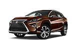 Stock pictures of low aggressive front three quarter view of 2018 Lexus RX 350 5 Door SUV Low Aggressive