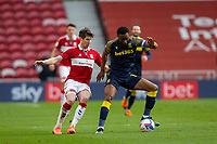 13th March 2021; Riverside Stadium, Middlesbrough, Cleveland, England; English Football League Championship Football, Middlesbrough versus Stoke City; Mikel John Obi of Stoke City retains possession under pressure from Paddy McNair of Middlesbrough