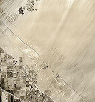 historical infrared aerial photograph of Salton Sea, California,1954