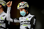Fabio Aru (ITA) Team Qhubeka Assos at sign on before Stage 5 of Paris-Nice 2021, running 200km from Vienne to Bollene, France. 11th March 2021.<br /> Picture: ASO/Fabien Boukla   Cyclefile<br /> <br /> All photos usage must carry mandatory copyright credit (© Cyclefile   ASO/Fabien Boukla)