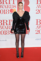 Rosie Huntington-Whiteley<br /> arriving for the BRIT Awards 2018 at the O2 Arena, Greenwich, Leicester Square, London<br /> <br /> ©Ash Knotek  D3383  21/02/2018<br /> <br /> *photos for editorial use only in connection with the BRITs*