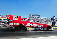 Aug. 21, 2011; Brainerd, MN, USA: NHRA funny car driver Cruz Pedregon during the Lucas Oil Nationals at Brainerd International Raceway. Mandatory Credit: Mark J. Rebilas-US
