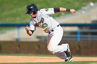 Winston-Salem center fielder Chris Amador (13) takes off for second base in game action versus the Frederick Keys at Ernie Shore Field in Winston-Salem, NC, Thursday, June 15, 2006.  Winston-Salem defeated Frederick 1-0 in game 1 of a double-header.