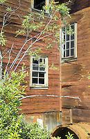 Windows and walls meet at a Kennicott Mine building.