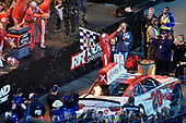 #20: Christopher Bell, Joe Gibbs Racing, Toyota Camry Rheem celebrate his win