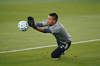 SAN JOSE, CA - SEPTEMBER 5: San Jose Earthquakes goalkeeper Daniel Vega #17 before a game between Colorado Rapids and San Jose Earthquakes at Earthquakes Stadium on September 5, 2020 in San Jose, California.