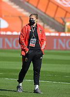 Belgian Justien Odeurs inspecting the pitch of the Koning Boudewijnstadion pictured before a Womens International Friendly game between Belgium , called the Red Flames and Norway at Koning Boudewijnstadion in Brussels , Belgium. PHOTO: SPORTPIX.BE | SPP | SEVIL OKTEM