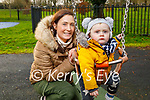 Caroline and Odhrán O'Sullivan enjoying the playground in the Tralee town park on Saturday.