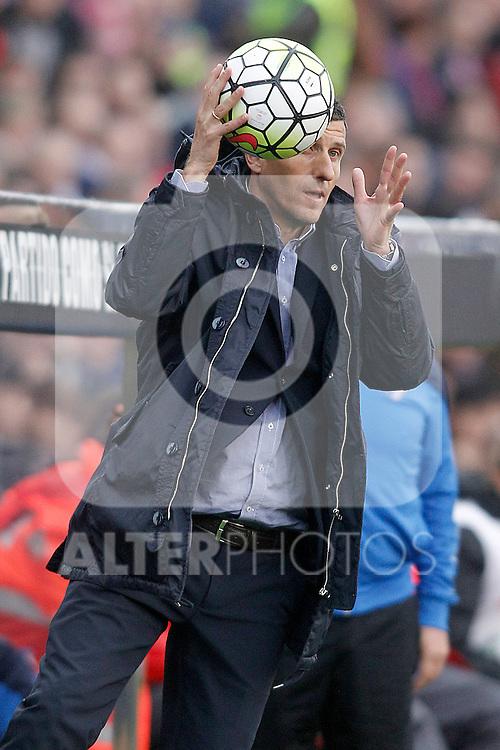 Malaga CF's coach Javi Gracia during La Liga match. April 23,2016. (ALTERPHOTOS/Acero)