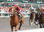 April 04, 2014:Watery Moon and Alan Garcia win the 6th race at Keeneland on opening day, Maiden $58,000 for three year olds.  Candice Chavez/ESW/CSM