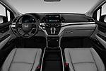 Stock photo of straight dashboard view of 2019 Honda Odyssey EX-L 5 Door Minivan Dashboard