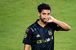 Carlos Vela of Los Angeles FC (USA) celebrates after scoring a goal against Club America (MEX) during their CONCACAF Champions League Semi Finals match at the Orlando's Exploria Stadium on 19 December 2020, in Florida, USA. Photo by Victor Fraile / Power Sport Images