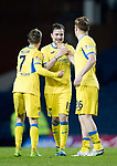 Rangers v St Johnstone…16.12.17…  Ibrox…  SPFL<br />Chris Millar, Paul Paton and Liam Craig celebrate at full time<br />Picture by Graeme Hart. <br />Copyright Perthshire Picture Agency<br />Tel: 01738 623350  Mobile: 07990 594431