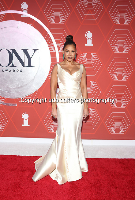 Daphne Rubin-Vega attends the 74th Tony Awards-Broadway's Back! arrivals at the Winter Garden Theatre in New York, NY, on September 26, 2021.