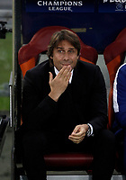 Football Soccer: UEFA Champions League AS Roma vs Chelsea Stadio Olimpico Rome, Italy, October 31, 2017. <br /> Chelsea's coach Antonio Conte waits for the start of the Uefa Champions League football soccer match between AS Roma and Chelsea at Rome's Olympic stadium, October 31, 2017.<br /> UPDATE IMAGES PRESS/Isabella Bonotto