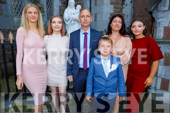Ryan Ward from Moyderwell NS receiving his First Holy Communion on Saturday in St Johns Church. L to r: Rhiannon O'Connor, Abbie and Timmy and Ryan Ward, Rachel O'Connor and Ava O'Connor.