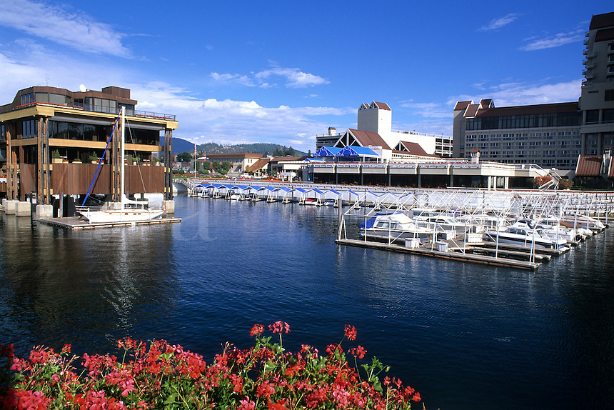 Exclusive and beautiful Coeur d' Alene Idaho city and lakefront US