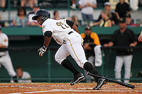 April 23, 2010 Outfielder Quincy Latimore of the Bradenton Marauders, Florida State League Class-A affiliate of the Pittsburgh Pirates, during a game at McKenhnie Field in Bradenton Fl. Photo by: Mark LoMoglio/Four Seam Images
