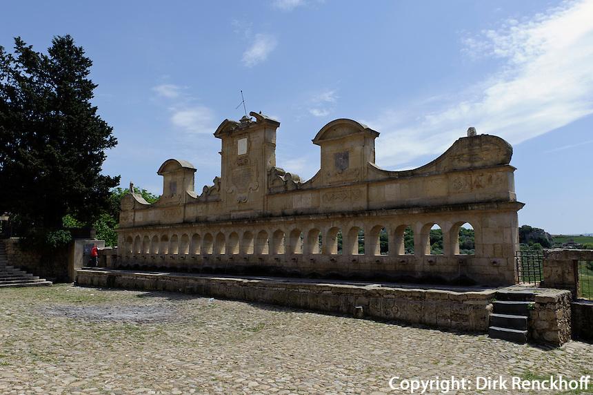 Brunnen Granfonte  in Leonforte, Sizilien, Italien