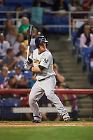 Trenton Thunder outfielder Tyler Austin (35) at bat during a game against the Binghamton Mets on August 8, 2015 at NYSEG Stadium in Binghamton, New York.  Trenton defeated Binghamton 4-2.  (Mike Janes/Four Seam Images)
