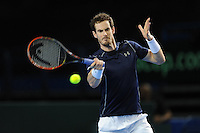 Andy Murray (GB), MARCH 06, 2016 - Tennis : Andy Murray (GB) during the Davis Cup by PNB Paribas , World Group first round fourth rubber between Great Britain and Japan at The Barclaycard Arena, Birmingham, United Kingdom. (Photo by Rob Munro/AFLO)