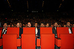 Caleb Ewan (AUS), Steven Kruijswijk (NED), Christopher Froome (GBR), Egan Bernal (COL), Julian Alaphilippe and Thibaut Pinot (FRA) at the Tour de France 2020 route presentation held in the Palais des Congrès de Paris (Porte Maillot), Paris, France. 15th October 2019.<br /> Picture: ASO/Thomas Colpaert | Cyclefile<br /> <br /> All photos usage must carry mandatory copyright credit (© Cyclefile | ASO/Thomas Colpaert)