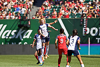 Portland, OR - Saturday September 02, 2017: Tori Huster during a regular season National Women's Soccer League (NWSL) match between the Portland Thorns FC and the Washington Spirit at Providence Park.