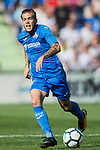 Alvaro Jose Jimenez Guerrero of Getafe CF in action during the La Liga 2017-18 match between Getafe CF and Real Madrid at Coliseum Alfonso Perez on 14 October 2017 in Getafe, Spain. Photo by Diego Gonzalez / Power Sport Images