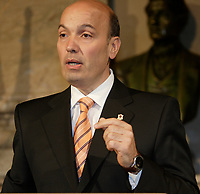 On May 20, 2008, FRank Zampino announced that he would retire from politics during the summer after his 22-year career. His resignation took effect on July 2, 2008. [Executive Committee Vice-President Claude Dauphin succeeded him. <br /> <br /> A few months later he admitted ties with Tony Accurso who's company got major contract from the city for new water meters.Sol Zanetti, chef OPTION NATIONALE<br /> , 3 avril 2014<br /> <br /> PHOTO :  Agence Quebec Presse <br /> <br /> <br /> <br />  Frank Zampino<br /> <br /> PHOTO :  Agence Quebec Presse