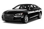 2019 Audi A5-Sportback Premium 5 Door Hatchback Angular Front stock photos of front three quarter view