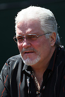 OAKLAND, CA - MAY 22:  General Manager Brian Sabean of the San Francisco Giants watches batting practice before the game against the Oakland Athletics at the Oakland-Alameda County Coliseum on May 22, 2010 in Oakland, California. Photo by Brad Mangin