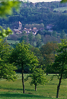 Europe/France/Limousin/23/Creuse/Moutier-d'Ahun : Le village et l'abbaye du Moutier d'Ahun
