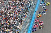 2017 Monster Energy NASCAR Cup Series<br /> Camping World 500<br /> Phoenix International Raceway, Avondale, AZ USA<br /> Sunday 19 March 2017<br /> Denny Hamlin, FedEx Freight Toyota Camry and Erik Jones, 5-hour Energy Extra Strength Toyota Camry<br /> World Copyright: Nigel Kinrade/LAT Images<br /> ref: Digital Image 17PHX1nk09900